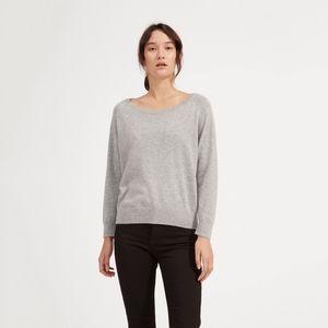 Everlane Cashmere Ballerina Raglan sweater in grey